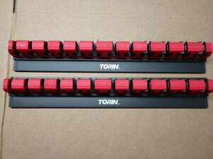 2 Torin Big Red Tool Organizer Magnetic Lock A Wrench Rack