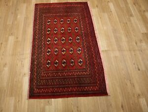 2 3 X4 Vintage Torkaman Wool Hand Knotted Persian Oriental Rug Carpet