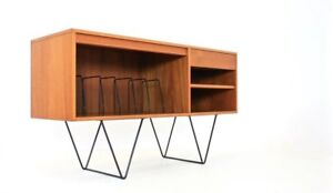 Mid Century Media Cabinet Record Storage Credenza By G Plan