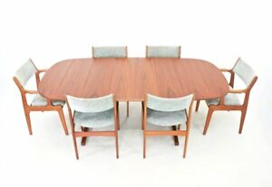 Mid Century Dining Table And 6 Chairs By Dyrlund Of Denmark