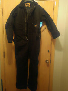 Wells Lamont Work Wear Lined Coveralls Black Size M