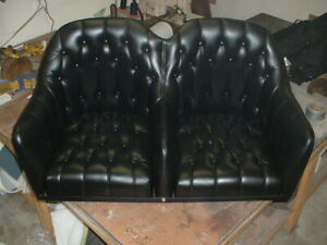 Hot Rod Rat Rod 1909 12 18 Ford chevy Leather Barrle Bench Seat Black