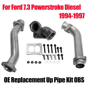 For 1994 1997 Ford 7 3l Powerstroke Diesel Obs 7 3 Exhaust Up Pipe Kit