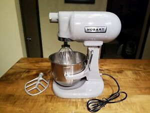 Nice Hobart 5 Quart Commercial Mixer Model N50 With 2 Attachments