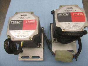 Lot Of 2 Vexta 2 Phase Stepping Motor Pk268 02a 1 8 step Dc 2a