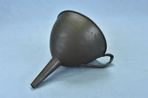 Antique Hand Spun Large Handled Funnel Kitchen Farm Tool 05265