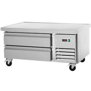 Arctic Air 50in Two Drawer Refrigerated Commercial Chef Base Arcb48 Ss Nsf