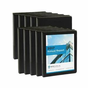 Blue Summit Supplies 10 Pack Of 1 2 Inch 3 ring Economy Binders Black Bulk Cle