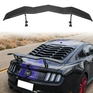 Racing Rear Trunk Spoiler Wing Tail Lid For 2005 2019 Ford Mustang Gt Lambo Ya