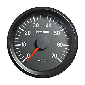 Vdo Cockpit International Tachometer Gauge 7000 Rpm 80mm 3 1 12v 333 035 003g