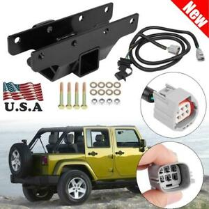 Rear Trailer Receiver Hitch Wire Harness Kit Fit Jeep Wrangler Jk 2007 2018