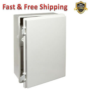 Electrical Boxes Light Gray Finish Abs Plastic Enclosures Opaque Door Durable Us