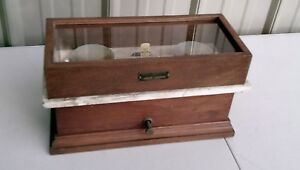 Henry Troemner Wood Glass And Marble Pharmaceutical Apothecary Balance Scale