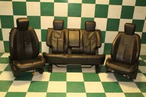 10 17 Terrain Black Leather Power Heated Driver Bucket Front Rear Bench Seat Set