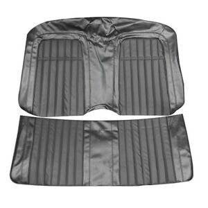 1969 Camaro Deluxe Convertible Black Rear Bench Seat Covers By Pui