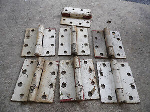 Heavy Door Hinges 7 Sets Painted Home Barn 5 X 4 5 Antique Vintage