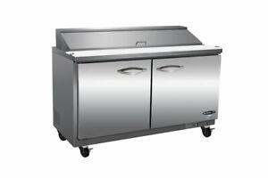 Ikon Ksp60 60 Commercial Sandwich salad Prep Table Cooler Two section Ss Nsf