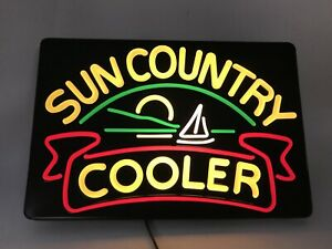 Nos Vintage Sun Country Cooler Illuminated Lighted Advertising Sign 2324