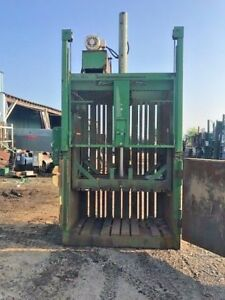 Ptr 60 Baler 10 Hp Motor Recycling trash Cardboard