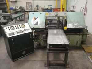 Marvel 15am1 Automatic Band Saw 15 X 20 Horizontal