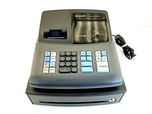 Sharp Xe a106 Electronic Cash Register Working missing Both Keys Sold As is