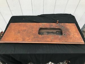 Antique 1890s Singer Treadle Sewing Machine Cabinet Top For Vs2 Fiddle Base