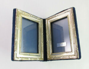 Vtg Bscld Sterling Silver Double Folding Picture Photo Frame 4 5 X 3 5 England