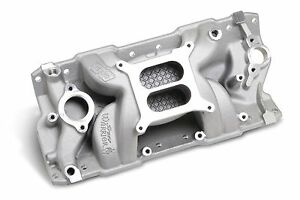 Weiand Sbc Aluminum Intake Speed Warrior 1955 1986 350 383 Open Intake Plenum