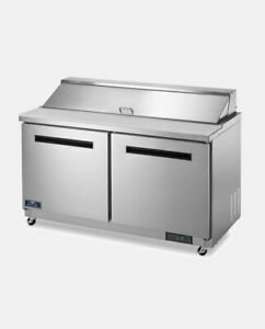 Arctic Air Ast60r 60 2 Door Commercial Refrigerated Sandwich Prep Table Cooler
