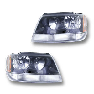 Fits 2002 2003 Jeep Grand Cherokee Laredo Sport Headlight Assembly 1 Pair Lh rh