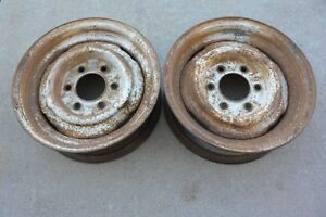 1969 15 X 5 1 2 Chevy Gmc Truck 6 Lug By 5 5 Steel Wheels Gm Pair