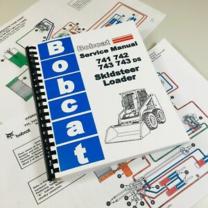 Service Manual For Bobcat 741 742 743 743ds Skidsteer Loaders Repair Manual