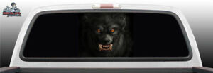 Werewolf Wolf Perf Perforated Rear Window Graphic Decal Car Suv Truck Vehicle