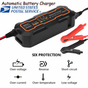 6v 12v Automatic Smart Battery Charger For Car Vehicle Truck Motorcycle Boat Agm