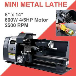 650w 8 x 14 Mini Metal Lathe Machine Variable Speed 2500 Rpm High Precision