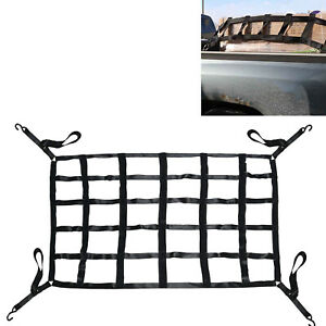 Long Bed Truck Cargo Net Pickup Cargo Net With Cam Buckles S hooks 66 X 50