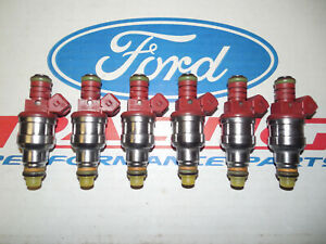 Ford Racing 4 6 5 0 Mustang 30 Lb Pound Red Top Fuel Injectors Set Of 6 Oem
