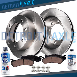 Front Disc Rotors Brake Pad For 2000 2002 Dodge Ram 2500 3500 W Rear Drums