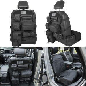 Tactical Molle Bag Seat Cover Organizer Pocket Storage Pouch For Jeep Dodge Ford