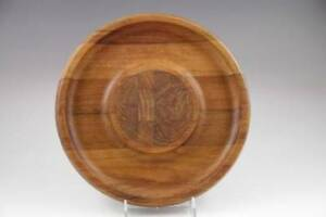 Vintage Dansk Ihq Round Teak Cheese Board Checkerboard Center Jens Quistgarrd