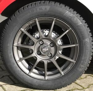 Msw 85 Alloy Wheels Smart Fortwo 453 Winter Tyre 15 Inch Grey Conti