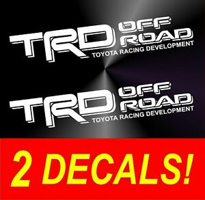 2 Trd Off Road Vinyl For Toyota Tacoma Tundra Pair Decals Sticker Truck Bed