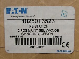Eaton Cutler Hammer 10250t3523 2 Pos On Off Selector Switch Push Button Station