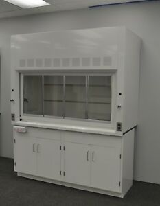 6 Laboratory Chemical Fume Hood With 2 Storage Cabinets W Valves