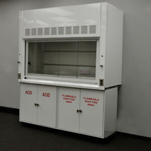 6 Laboratory Chemical Fume Hood With Both Acid And Flammable Cabinets