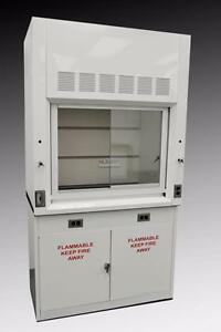 Fisher 4 Chemical Laboratory Fume Hood W Flammable Storage Cabinet
