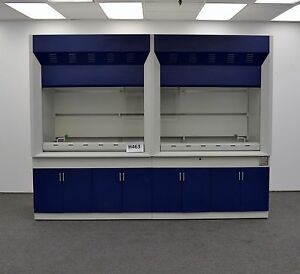 Bench Top Laboratory Chemical Fume Hood W Epoxy Top Surface Cabinets 10 Ft