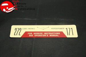 57 58 Ford Truck 272 171 Horsepower Air Cleaner Decal