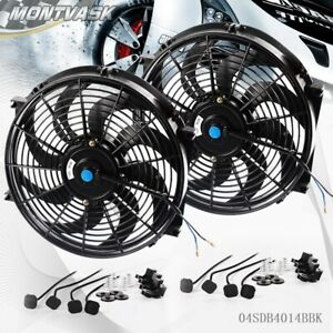 14 Inch Universal Slim Pull Push Racing Electric Radiator Engine Cooling Fan 2
