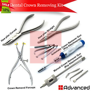 Set Of 5 Dental Crown Removing Instruments Orthodontic How Pliers Surgical Tools